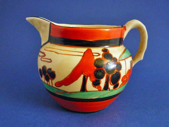 Rare Clarice Cliff Fantasque Red Trees And House Perth Jug