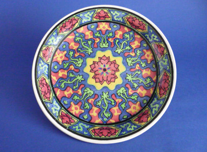 Unusual Royal Doulton Art Deco Floral Pattern L Series Rack Plate c1934 D4902 Sold