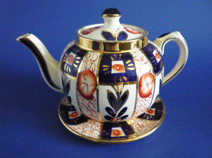 Vintage Sudlow S Gaudy Welsh Teapot And Stand C1930
