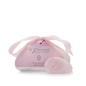 Piedra preciosa de cuarzo rosa sin fondo