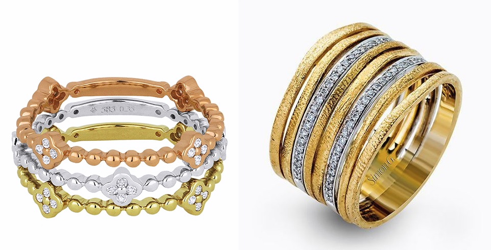 Stackable Gold Rings -- Kevin's Fine Jewelry