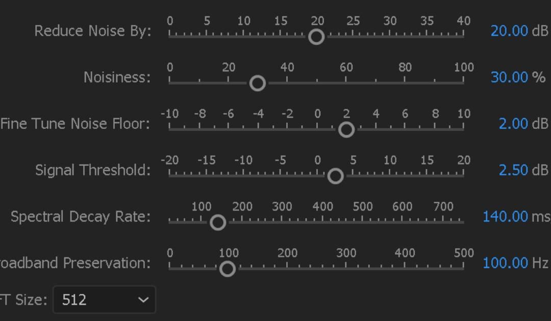 Ridurre il rumore audio con Adobe Premiere Pro CC: ora è possibile