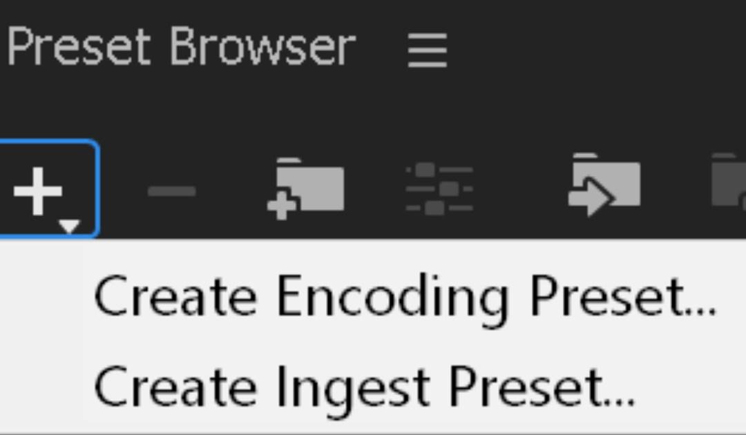 Realizzare un preset per la creazione dei proxy