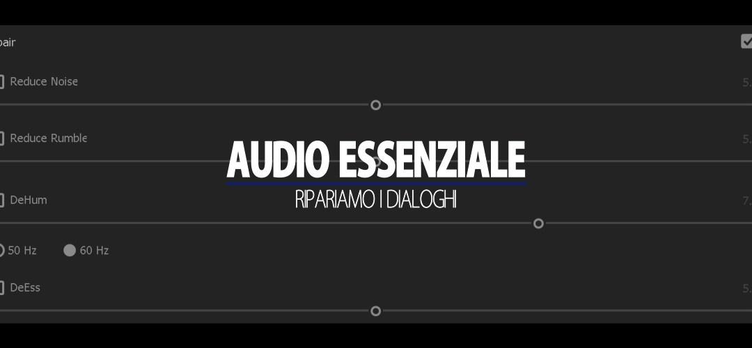 Audio Essenziale (parte 2): ripariamo l'audio dei dialoghi (speaking)