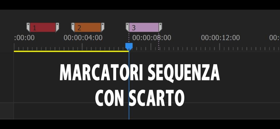 Marcatori di sequenza in sync con il montaggio