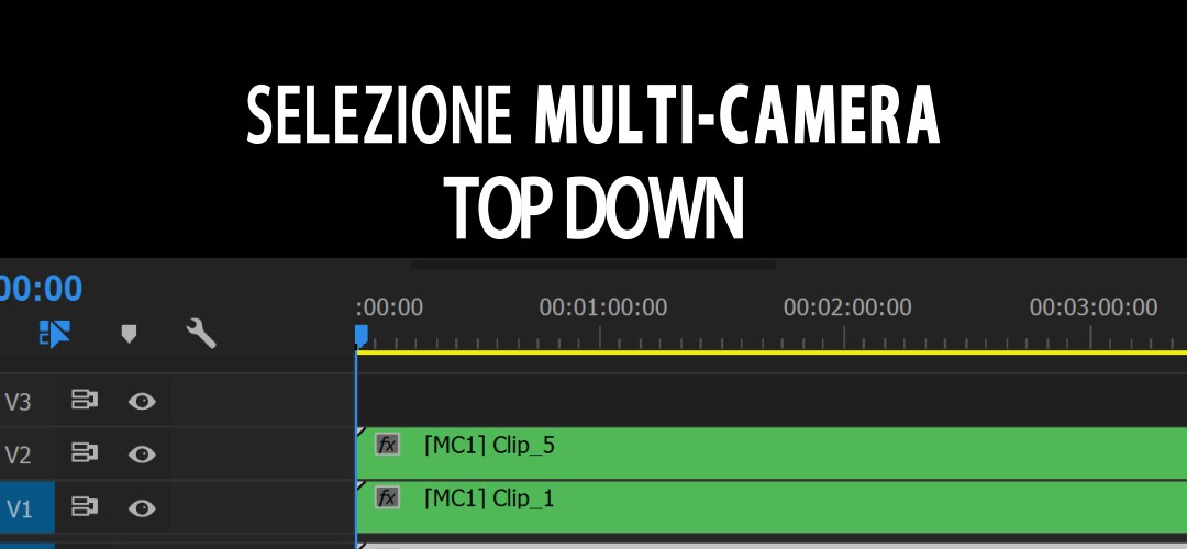 Editing di più sequenze multicamera in un'unica timeline