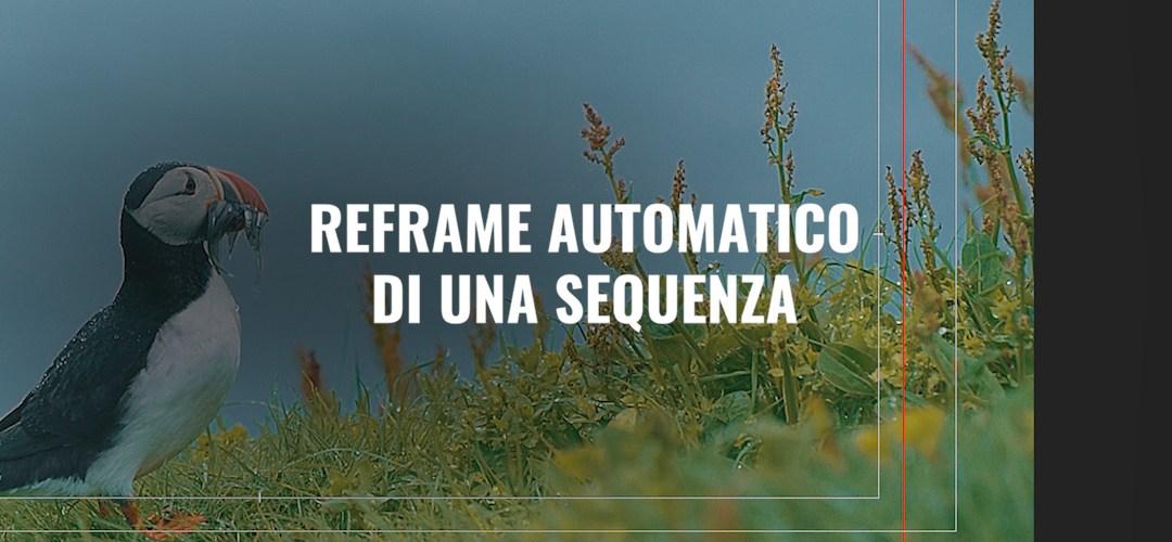 Reframe automatico di una sequenza (CC 2020)
