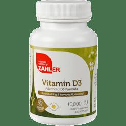 Advanced Nutrition by Zahler Vitamin D 10000 IU 120 softgels Z00448