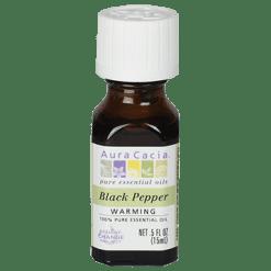 Aura Cacia Black Pepper Essential Oil .5 fl oz A12208