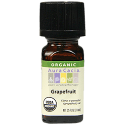 Aura Cacia Grapefruit Organic Essential Oil .25 oz A08133