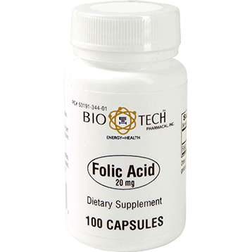 Bio Tech Folic Acid 20 mg 100 caps FOL10