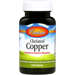 Carlson Labs Chelated Copper 5 mg 100 tabs COP13