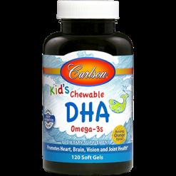 Carlson Labs Kids Chewable DHA Omega 3s 120 softgels C18507