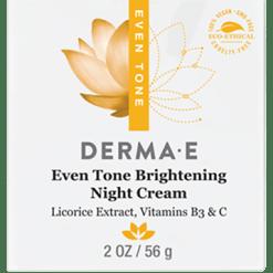 DERMA E Natural Bodycare Evenly Radiant Night Crème 2 oz D03345