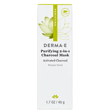 DERMA E Natural Bodycare Purifying 2 in 1 Charcoal Mask 1.7 oz D12200