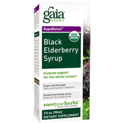 Gaia Herbs Black Elderberry Syrup 3 oz C07003