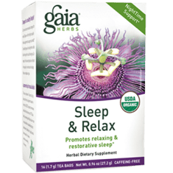 Gaia Herbs Sleep amp Relax Herbal Tea 16 bags G20020