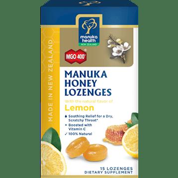 Manuka Health Manuka Honey amp Lemon 15 Lozenges M02299