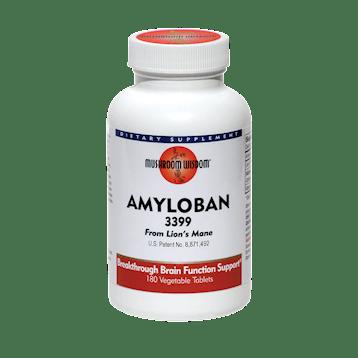Mushroom Wisdom Inc. Amyloban 180 vegetarian tablets AML18