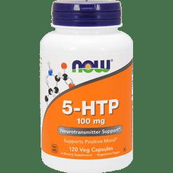 NOW 5 HTP 100 mg 120 vegetarian capsules N0106