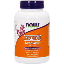 NOW 7 KETO LeanGels 100 mg 120 softgels N3024
