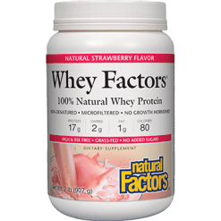 Natural Factors Whey Factors Powder Mix Strawberry 2 lbs NF2933