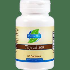 Priority One Vitamins Thyroid 300 mg 60 capsules THY46