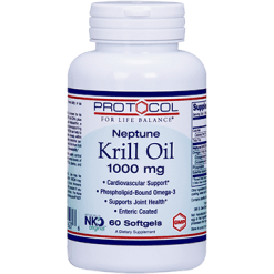 Protocol For Life Balance Neptune Krill Oil 1000 mg 60 softgels P16276