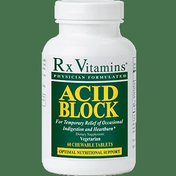 Rx Vitamins Acid Block 60 chewable tablets R04015