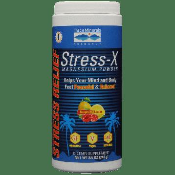 Trace Minerals Research Stress X Magnesium Rasp Lemon 8.5 oz T0352