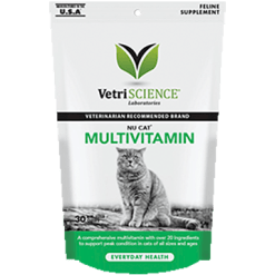 Vetri Science NuCat MultiVitamin 30 chew tabs V24192