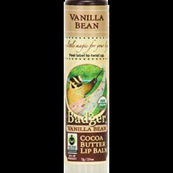 W.S. Badger Company Cocoa Butter Lip Balm Vanilla Bean .25oz B25078