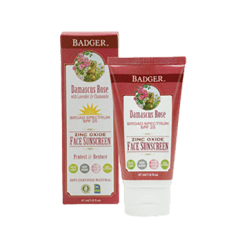 W.S. Badger Company Damascus Rose SPF 25 Face Sunscreen 1.6 fl oz B90404