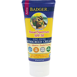 W.S. Badger Company Zinc Oxide Sunscreen Cream SPF 30 2.9 fl oz B70314