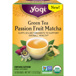 Yogi Teas Green Tea Passion Frt Matcha 16 tea bags Y20650