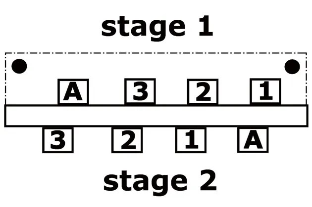 strat wiring diagram 3 way switch bosch 4 pin relay pole guitar mod garage how to wire a stock tele pickup premier guitar3 has two stages each with four soldering lugs 1 2