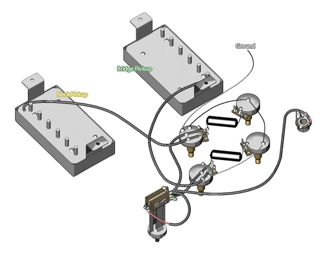 guitar pots wiring diagram t1 crossover cable pinout the fabulous four mods for your strat tele les paul and super vintage wired mod courtesy of gibson corp