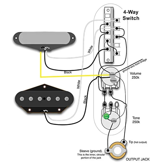 Way Switch Wiring Diagram On Wiring Diagram P90 Pickups 5 Way Switch
