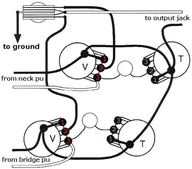 les paul guitar wiring diagram master with volume