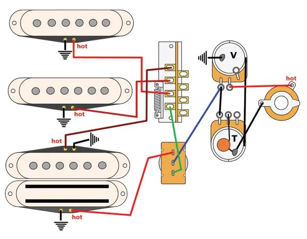 gibson wiring diagrams air bag suspension diagram mod garage: a cool four-pickup | premier guitar