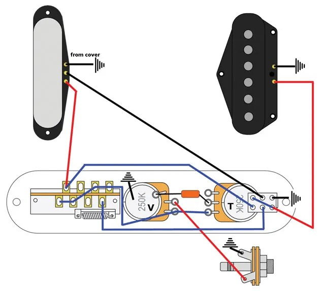 push to talk switch wiring diagram for trailer hook up mod garage telecaster series premier guitar 2 getting a sound with an added rather than replacement pickup selector image courtesy of singlecoil com