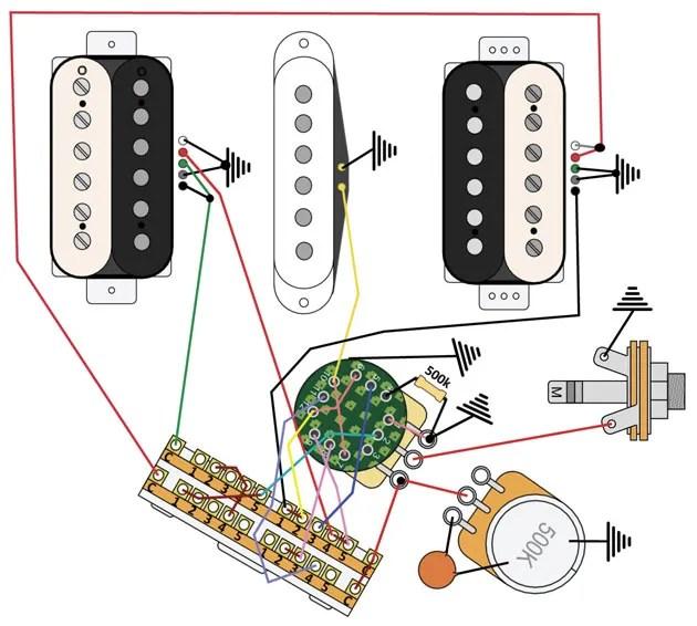 3 Humbucker Strat Wiring Diagram Mod Garage Strat Prs Crossover Wiring Premier Guitar