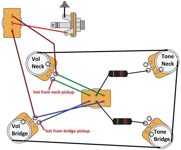 les paul standard wiring diagram air compressor capacitor mod garage: switchable modern-retro | premier guitar