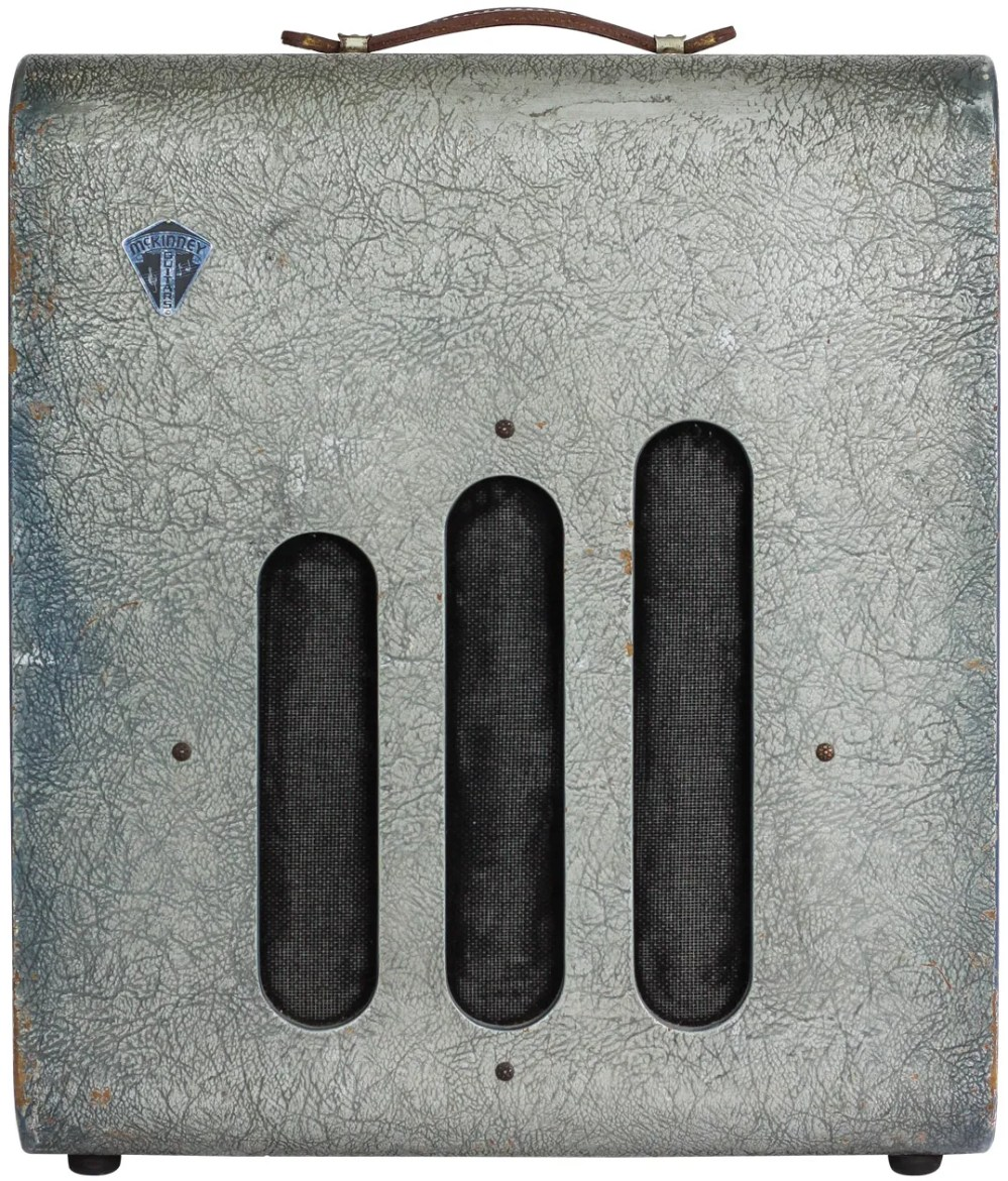 medium resolution of on the valco made mckinney 1260 the separate volume controls for the microphone and instrument channels reveal the amp s original all in one design as a