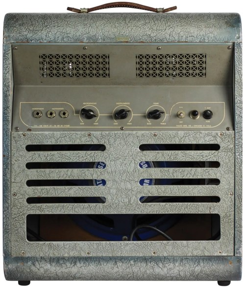 small resolution of this same mckinney amp can also be found in the 1949 national catalog as model 1260 it cost 165 at the time and produces about 16 watts of power