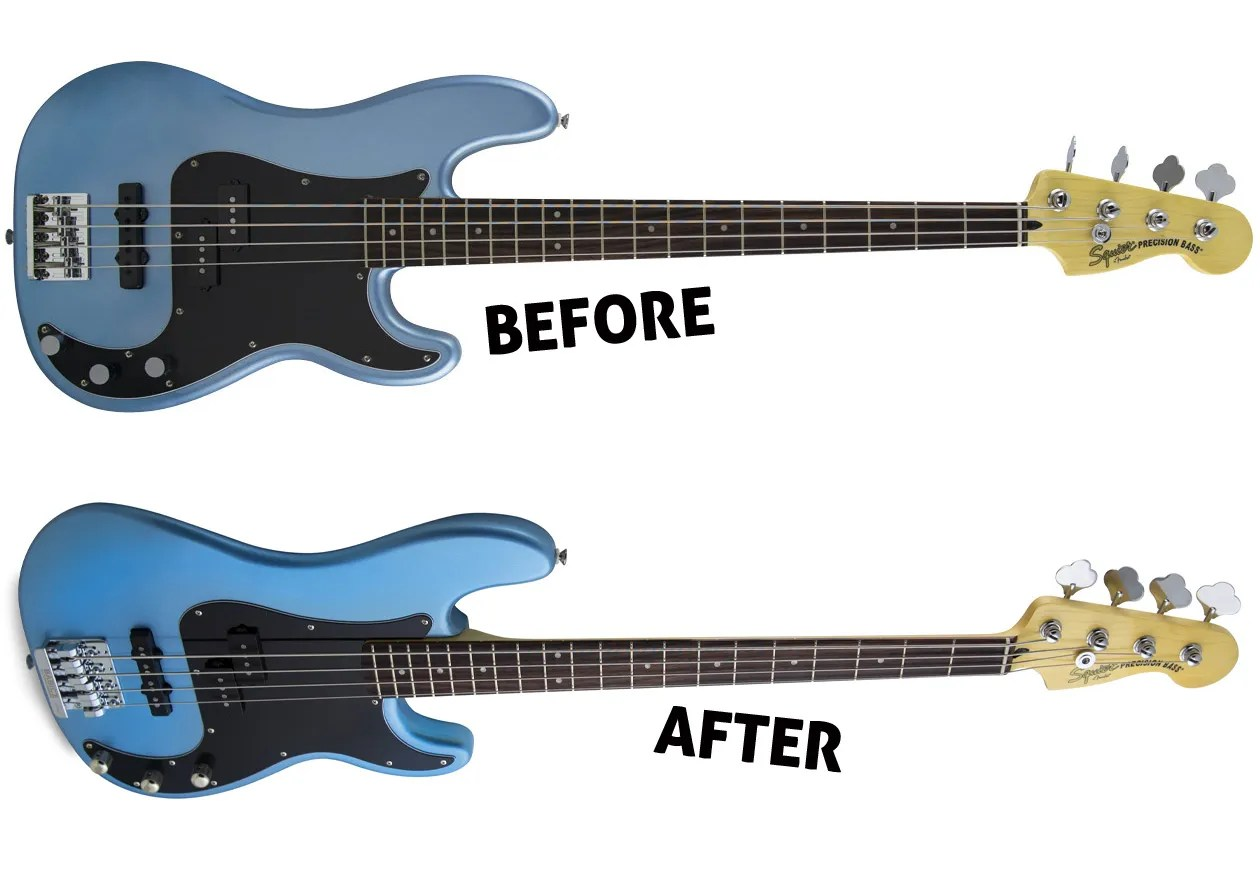 hight resolution of squier vintage modified precision bass pj