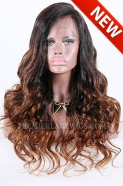long style brown ombre color thick