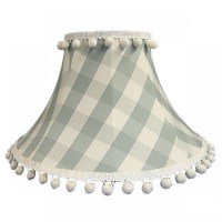 Harbour Blue Gingham Empire Lampshade