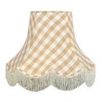 Natural Gingham Check Lampshade