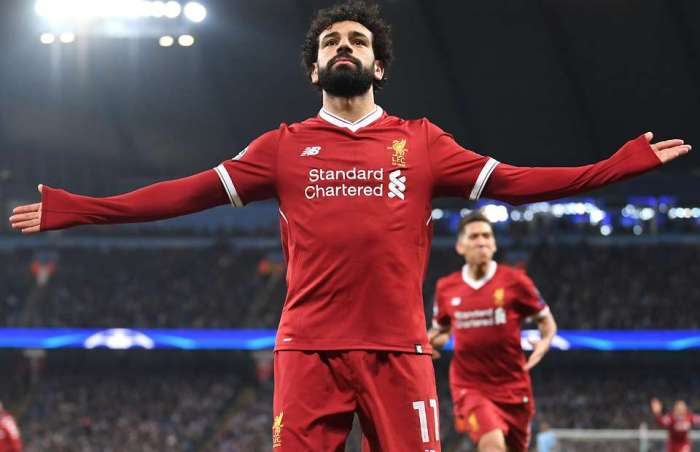 Mohammed Salah Celebrating